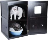 Petsfit Pet House Litter Box Enclosure Night Stand Painted with Non-Toxic