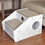 Petsfit Wooden Pet/Cat/Dog Stairs/Steps for Elderly Cat/Dogs with Short Legs and Long Body