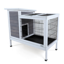 Petsfit Rabbit Hutch Indoor Bunny Cage with Pull Out Tray, Guinea Pig Cage Hutch Outdoor