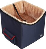 Petsfit Dog Car Seat for Small Dogs and Cats up to 15 Pounds, Small Dog Car Seat, with Pockets (Dark Bule) 15  Lx16 Wx14 H