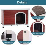 Petsfit Wooden Dog Houses for Small Dog Medium Dog and Large Dogs Weatherproof Outdoor Dog Kennel with Raised Feet