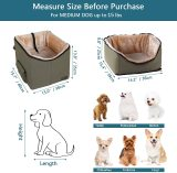 Petsfit Dog Car Seat, Pet Travel Car Booster Seat with Safety Belt, Washable Double-Sided Cushion and Storage Pocket for Pets
