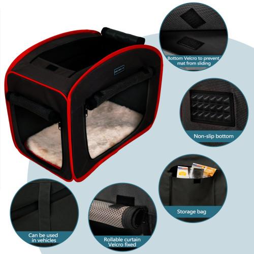Petsfit Portable Pop Up Pet Cage,Dog Kennel,Cat Play Cube (27  Lx18 Wx22 H, Black)