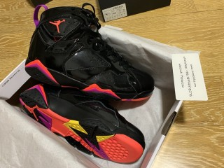 Air Jordan 7 Retro Black Patent Leather