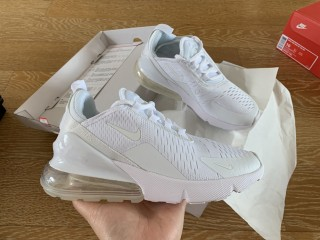 Nike Air Max 270 Flynit All White
