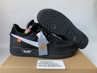 Off-White x Nike Air Force 1 Low ''Black Cone''