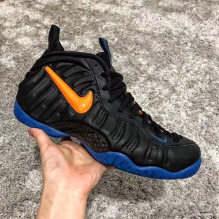 Nike Air Foamposite One Black/Orange-Blue