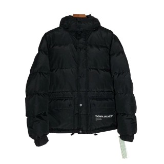 OFF WHITE JACKET BLACK RETAIL QUALITY