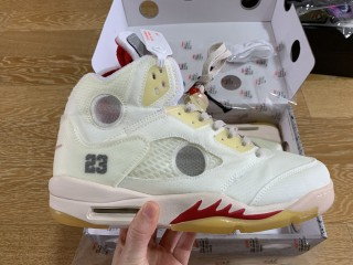 Air Jordan 5 Retro Off White ''Cream''