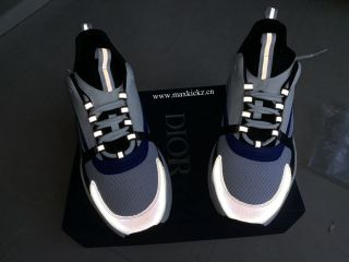 Dior B22 Sneaker White Black Blue