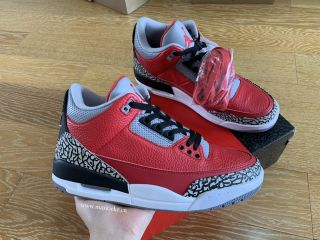 Air Jordan 3 Retro ''Red Cement'' Red Black