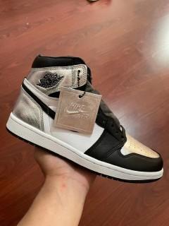 Air Jordan 1 Retro Silver Toe GS