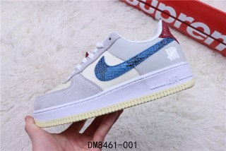 Nike Air Force One Grey Blue Red