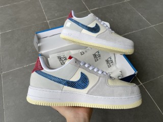 Nike Air Force One White Blue Red