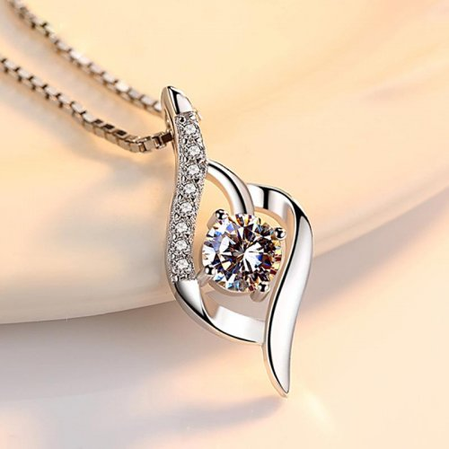 M 925 Beautiful Sterling Silver Necklace【Cash On Delivery】