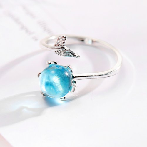 T Mermaid tears ring & that can be resized.【Cash On Delivery】