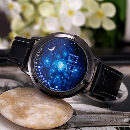 M Creative Personality Stylish Luminous Star Waterproof Watch(COD)
