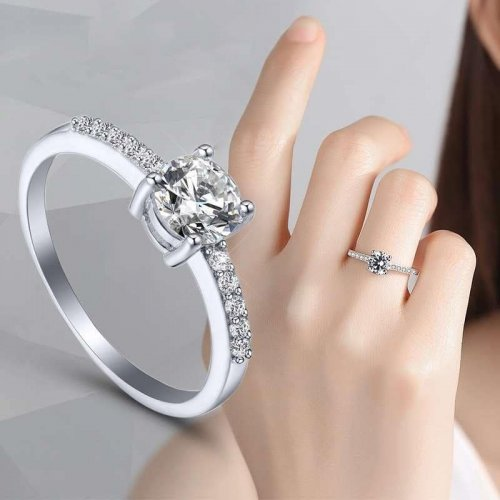 M Zircon Diamond Ring Special Birthday Gift Wedding Ring Party(COD)