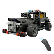 462PCS DIY Assembly Electric Car 2.4G 1:18 4 Channels RC Assembling Building Blocks Vehicle Special Police Water Cannon Truck for Children