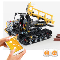 774Pcs 2.4G RC Building Block Engineering Vehicle Transport Cart DIY Assembly Construction Kit