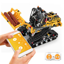 873Pcs 2.4G RC Building Block Engineering Vehicle Electric Forklift DIY Assembly Construction Kit