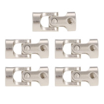 5Pcs 6 to 6mm Full Metal Universal Joint Cardan Couplings for RC Car and Boat D90 SCX10 RC4WD