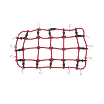 1:10 RC Rock Crawler Luggage Roof Rack Net for Traxxas HSP Redcat RC4WD Tamiya Axial SCX10 D90 HPI RC Car - Red