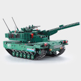 1498PCS 1:20 2.4G 2-in-1 Wireless RC M1A2 Tank Building Block DIY Assembly Educational Toy
