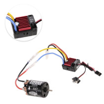 Hobbywing QuicRun 1060 Waterproof Brushed ESC and SnowPanther Hobby 540 55T Brushed Motor