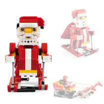439Pcs Building Blocks Electric Santa Claus Acousto-optic Induction Educational Toys for Children