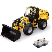 491Pcs 2.4G Building Blocks Remote Control Toy Wheel Loader Assemble RC Construction Vehicle Model DIY Educational Toys
