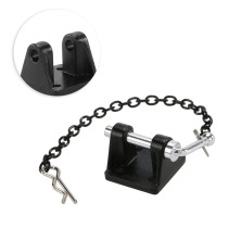 Chain Hooks Tow Shackle Bracket Set for 1/10 RC4WD D90 D110 SCX10 RC Car - Black