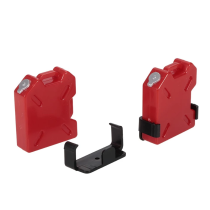2Pcs Oil Gasoline Tank Container for 1/10 AX10 SCX10 RC4WD TRX-4 Rock Crawler RC Car - Red