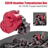 Dust-proof Gearbox Transmission Box for 1/10 RC Crawler Axial SCX10 RC Car