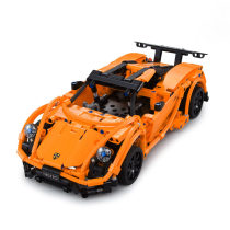 421Pcs 2.4G Building Blocks Remote Control Toy Suspension Sports Car Assemble RC Car Model DIY Educational Toys - Orange