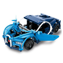 419Pcs 2.4G Building Blocks Remote Control Toy Sports Car Assemble RC Car Model Technic Educational Toys - Blue