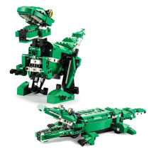 450Pcs 2.4G Building Blocks Electric Dinosaur Crocodile Sound Light Gesture Sensing Assembled Toy Educational Toys