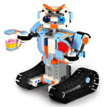 392Pcs 2.4G Remote Control Phone APP Dual Modes Robot Building Block for 100% Building Blocks Brand on the Market - Robert M4 Blue