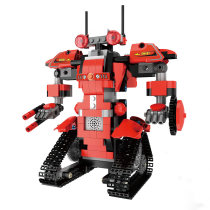 392Pcs 2.4G Remote Control Phone APP Dual Modes Robot Building Block for 100% Building Blocks Brand on the Market - Robert M1 Flame Red