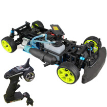 1:10 Sports Car Fuel Drift Car Chassis Frame Kit with Engine Component and Remote Control Compatible with Toyan FS Series Engine