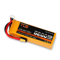 TLB 7.4V 5200mAh 35C 2S T-plug Battery for RC Boat and Car / Methanol Engine Model / Gasoline Engine / Blaster