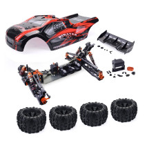ZD Racing 9021-V3 1/8 4WD 110km/h DIY Brushless RC Car Truggy Frame KIT Kit - Red