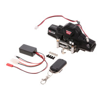 Warn Double Motors Winch with Remote Controller Receiver for 1/10 Traxxas HSP Redcat RC4WD Tamiya Axial SCX10 D91 HPI RC Car