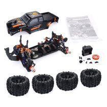 ZD Racing MT8 Pirates3 1/8 4WD 90km/h DIY Monster Truck Car Frame Kit - KIT Version Black