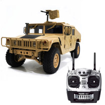 HG P408 1/10 2.4G 4WD 16CH 30km/h RC Model Car Light Sound Function U.S.4X4 Truck without Battery Charger - Desert Yellow