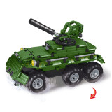 499Pcs 2.4G DIY Assembly RC Transformable Tank Building Block Kit with Two Kinds of Model