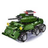 587Pcs 2.4G DIY Assembly RC Transformable Tank Building Block Kit with Two Kinds of Model