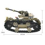 552PCS DIY Assembly 2.4G 4 Channels RC Assembling Building Blocks Tank World War II Land Tank RC Electric Heavy-Duty Track Tank