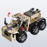 539Pcs 2.4G DIY Assembly RC Transformable Missile Vehicle Building Block Kit with Two Kinds of Model