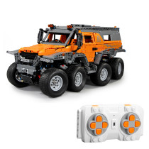 2578Pcs 1:8 RC Off-road Vehicle Building Block DIY Construction Model Toy with 8Pcs Powerful Motors